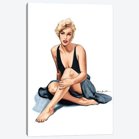Marilyn Monroe Canvas Print #ELZ39} by Elza Fouche Canvas Artwork