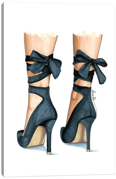 Ash Heels Canvas Art Print