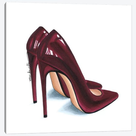 Maroon Heels Canvas Print #ELZ40} by Elza Fouche Canvas Art Print