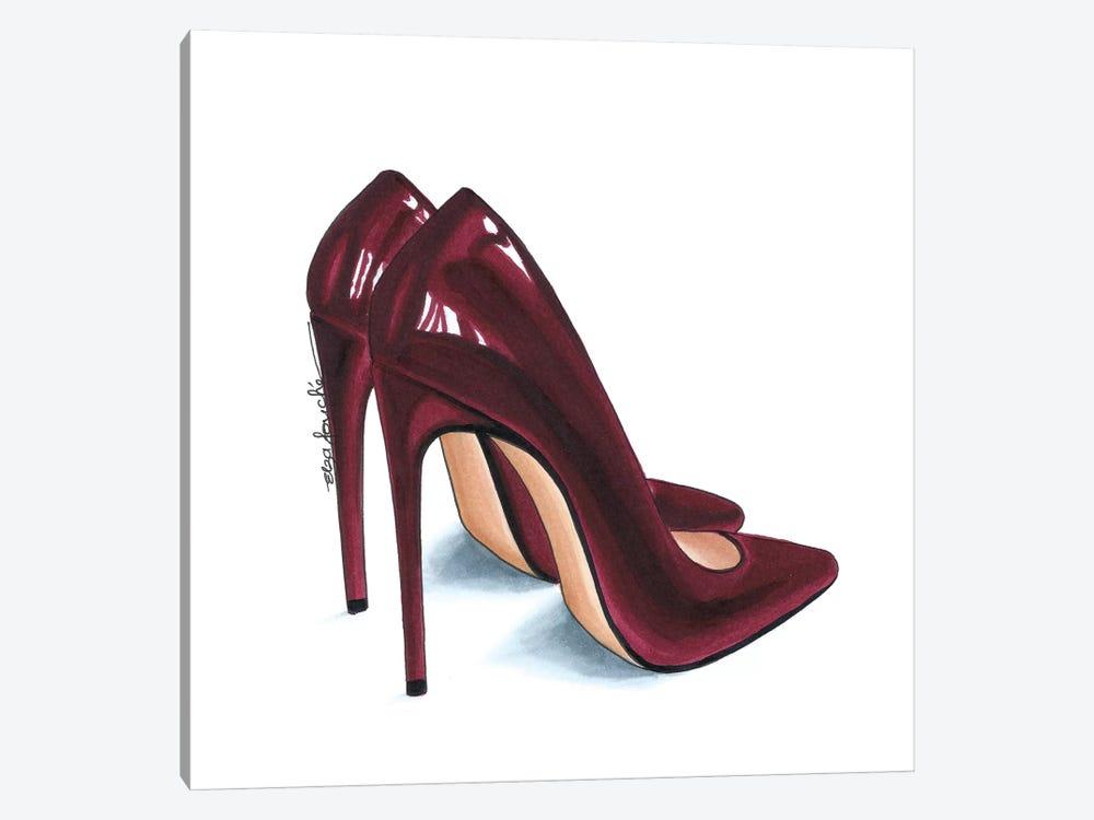 Maroon Heels by Elza Fouche 1-piece Canvas Artwork