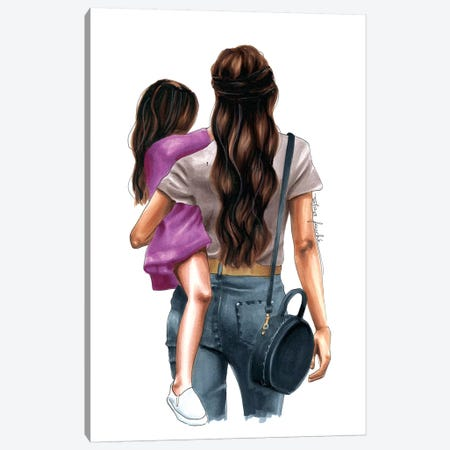 Mom & Daughter Day Out Canvas Print #ELZ42} by Elza Fouche Art Print