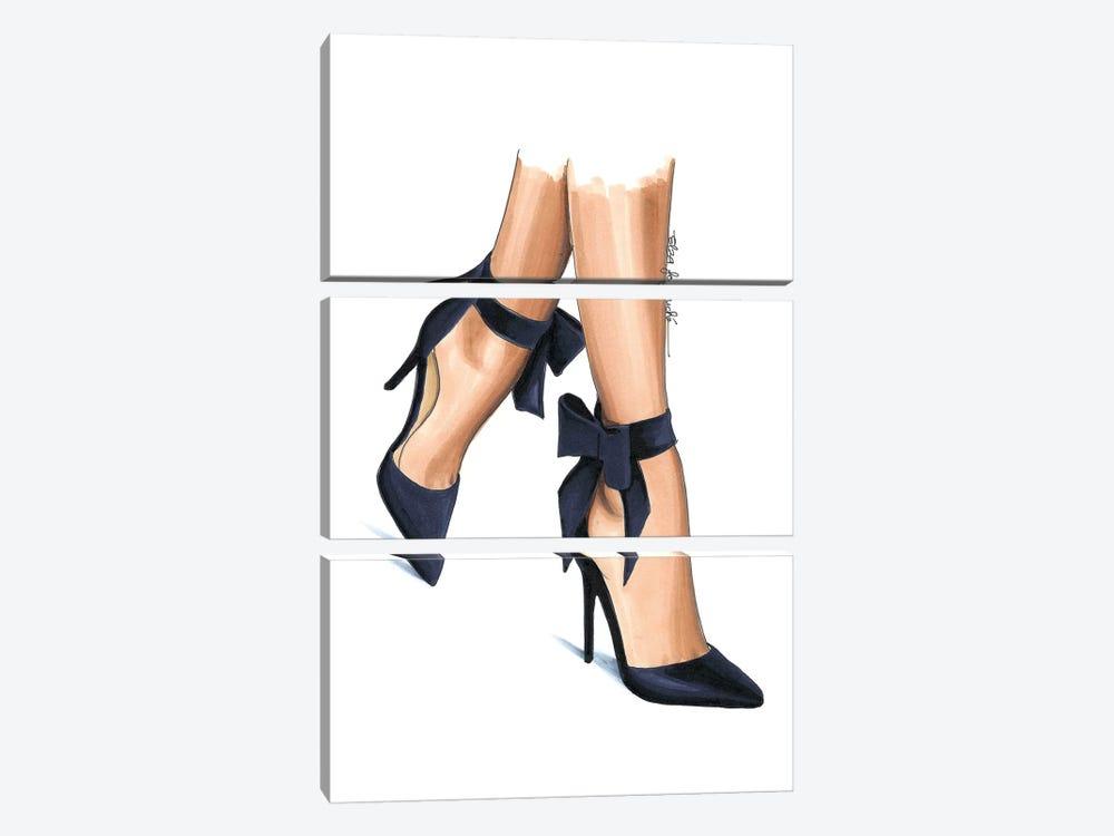 Navy Heels by Elza Fouche 3-piece Art Print
