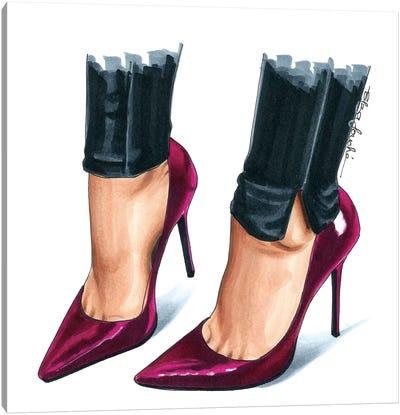 Peony Heels Canvas Art Print