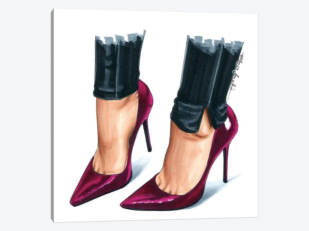 Peony Heels by Elza Fouche 1-piece Canvas Art Print