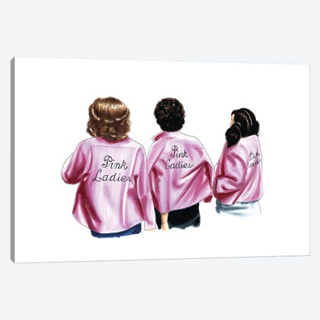 Pink Ladies Canvas Print #ELZ46} by Elza Fouche Canvas Artwork