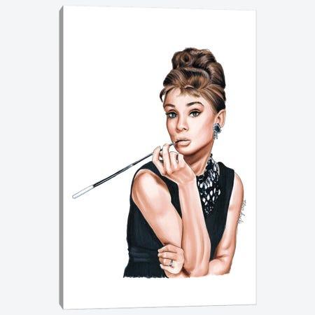 Audrey Hepburn Canvas Print #ELZ4} by Elza Fouche Art Print