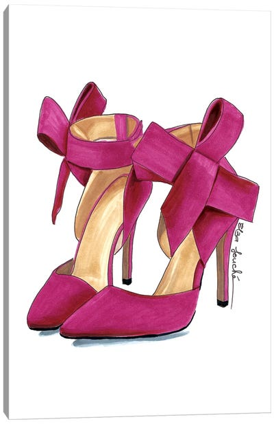 Rose Heels Canvas Art Print