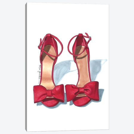 Scarlet Heels Canvas Print #ELZ55} by Elza Fouche Canvas Art Print