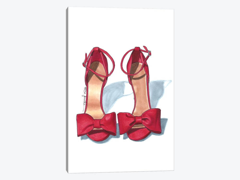 Scarlet Heels by Elza Fouche 1-piece Canvas Wall Art