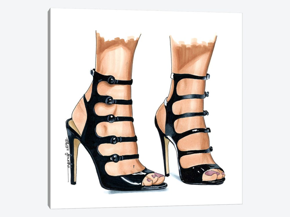Strappy Heels by Elza Fouche 1-piece Canvas Print