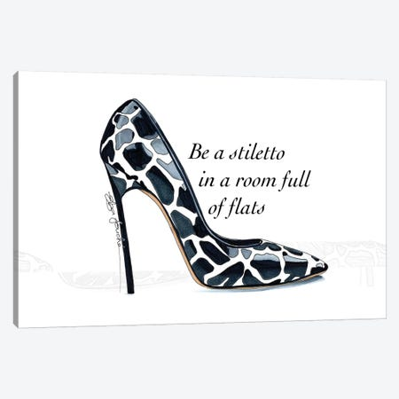 Be a Stiletto Canvas Print #ELZ5} by Elza Fouche Canvas Art Print