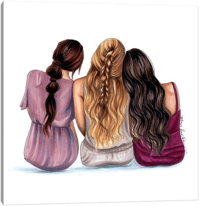 The 3 of us Canvas Art Print
