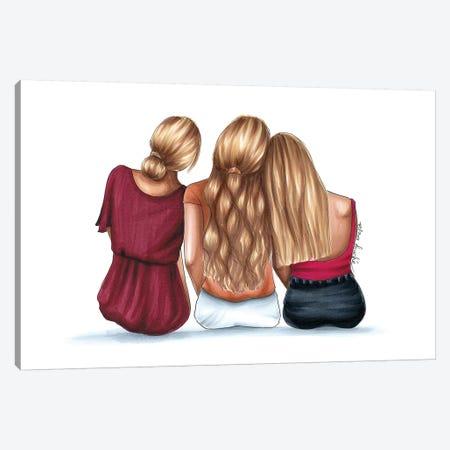 3 Blondes Canvas Print #ELZ63} by Elza Fouche Canvas Art Print