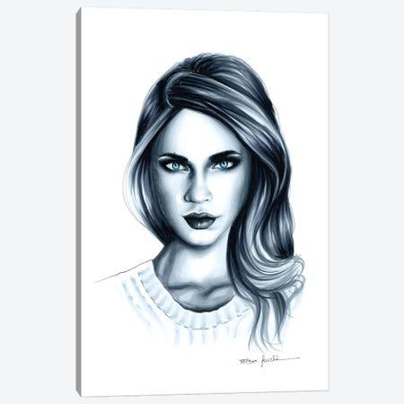 Blue Eyes Canvas Print #ELZ64} by Elza Fouche Canvas Art