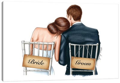 Bride and Groom Canvas Art Print