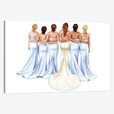 Bridesmaids Canvas Print #ELZ67} by Elza Fouche Canvas Artwork