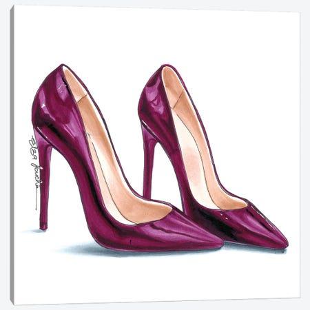 Deep Pink Heels Canvas Print #ELZ69} by Elza Fouche Art Print