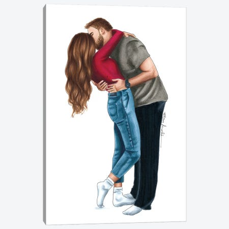Kiss Canvas Print #ELZ72} by Elza Fouche Canvas Art
