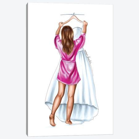 The Dress Canvas Print #ELZ76} by Elza Fouche Art Print
