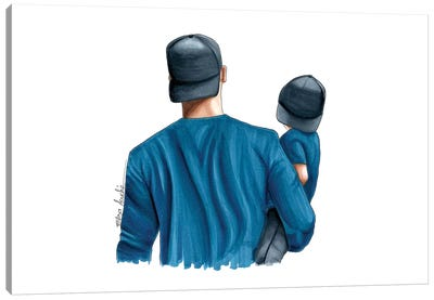 Dad & Son Canvas Art Print