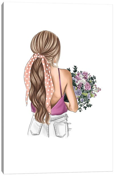 Polka Dots & Florals Canvas Art Print