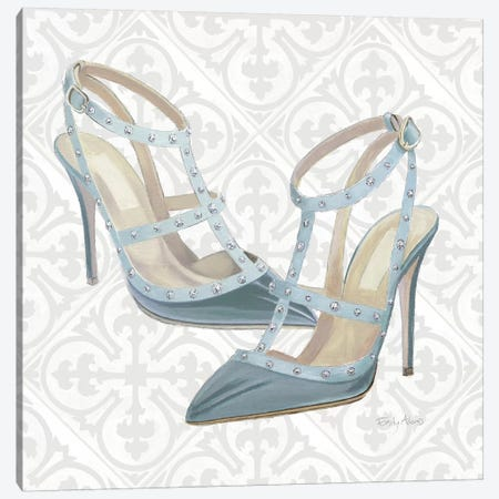 Must Have Fashion II Gray White Canvas Print #EMA10} by Emily Adams Canvas Artwork