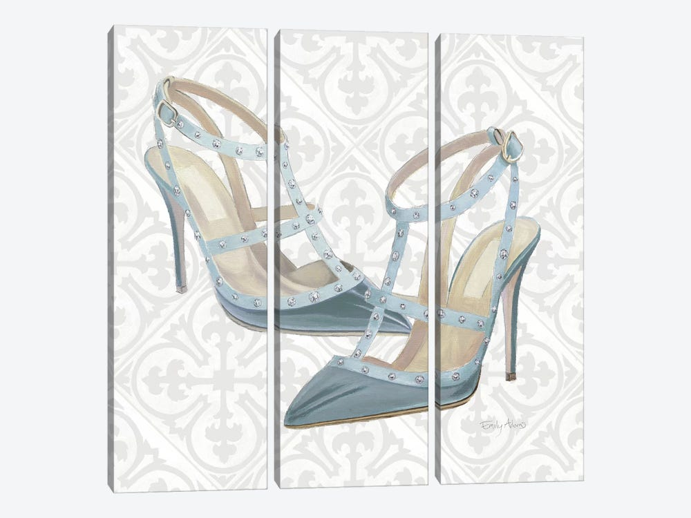 Must Have Fashion II Gray White by Emily Adams 3-piece Canvas Print