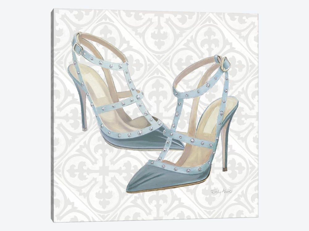 Must Have Fashion II Gray White by Emily Adams 1-piece Canvas Art Print