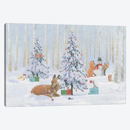 Christmas Critters Bright I Canvas Print #EMA17} by Emily Adams Canvas Print