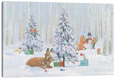 Christmas Critters Bright I Canvas Art Print