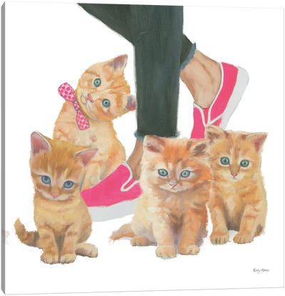 Cutie Kitties I Canvas Art Print