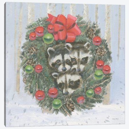Christmas Critters Bright VI Canvas Print #EMA25} by Emily Adams Canvas Artwork