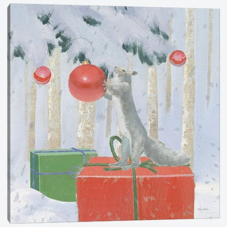 Christmas Critters Bright VII Canvas Print #EMA26} by Emily Adams Canvas Artwork