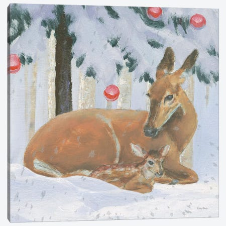 Christmas Critters Bright VIII Canvas Print #EMA27} by Emily Adams Canvas Wall Art