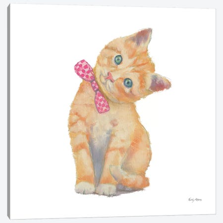 Cutie Kitties II Canvas Print #EMA2} by Emily Adams Canvas Print