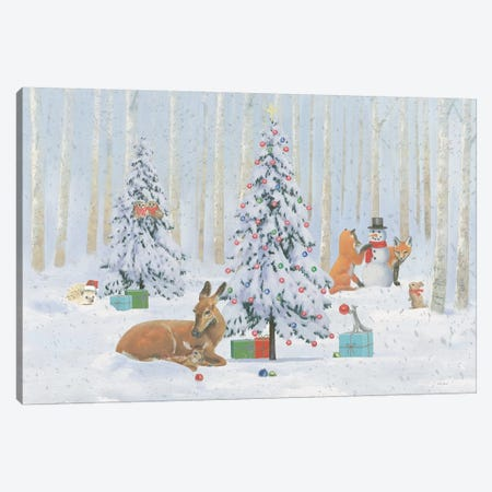 Christmas Critters Bright I Canvas Print #EMA31} by Emily Adams Canvas Art