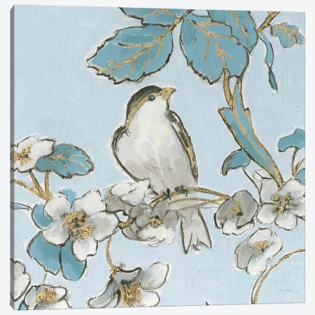 Toile Birds III Canvas Print #EMA35} by Emily Adams Canvas Print