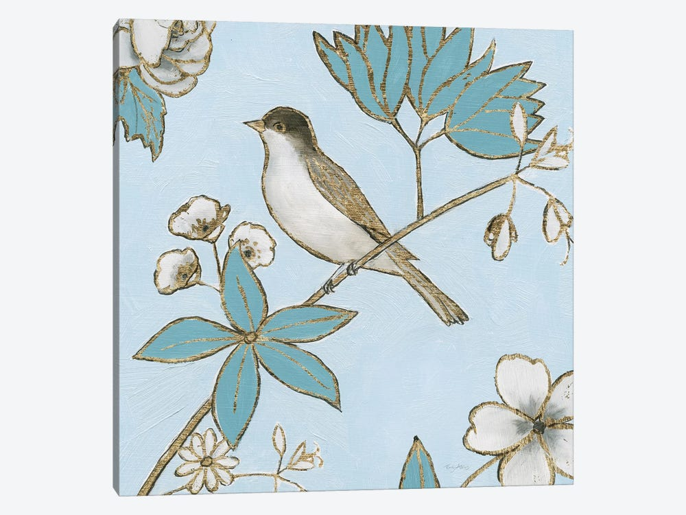 Toile Birds IV by Emily Adams 1-piece Canvas Print