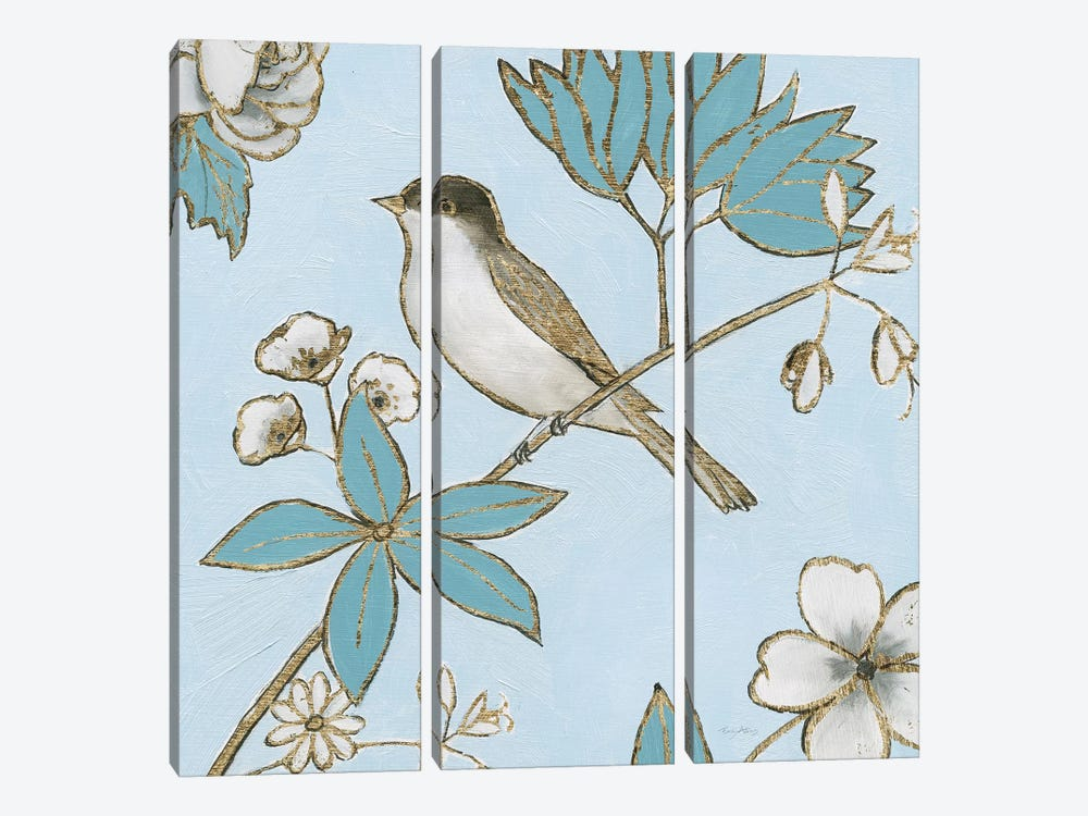 Toile Birds IV by Emily Adams 3-piece Art Print