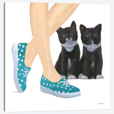 Cutie Kitties III Canvas Print #EMA3} by Emily Adams Canvas Art Print