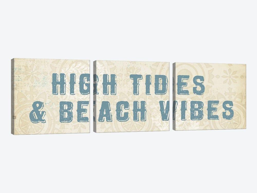 Beach Treasures VIII  No Shells by Emily Adams 3-piece Canvas Art