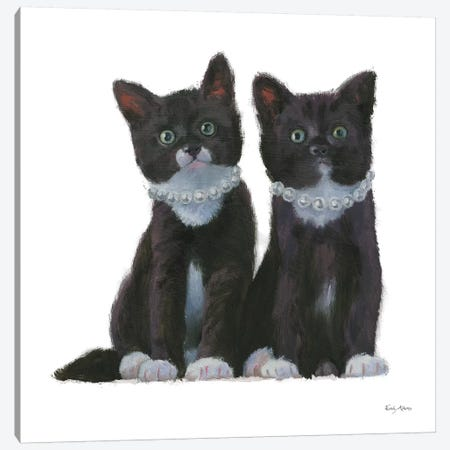 Cutie Kitties IV Canvas Print #EMA4} by Emily Adams Canvas Artwork