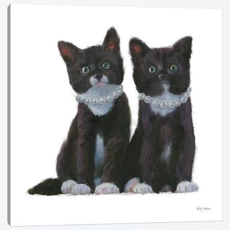 Cutie Kitties IV Canvas Print #EMA4} by Emily Adams Canvas Artwork
