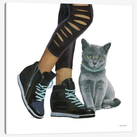 Cutie Kitties V Canvas Print #EMA5} by Emily Adams Canvas Art