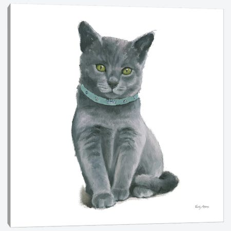 Cutie Kitties VI Canvas Print #EMA6} by Emily Adams Canvas Artwork
