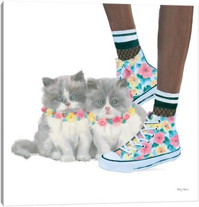 Cutie Kitties VII Canvas Art Print