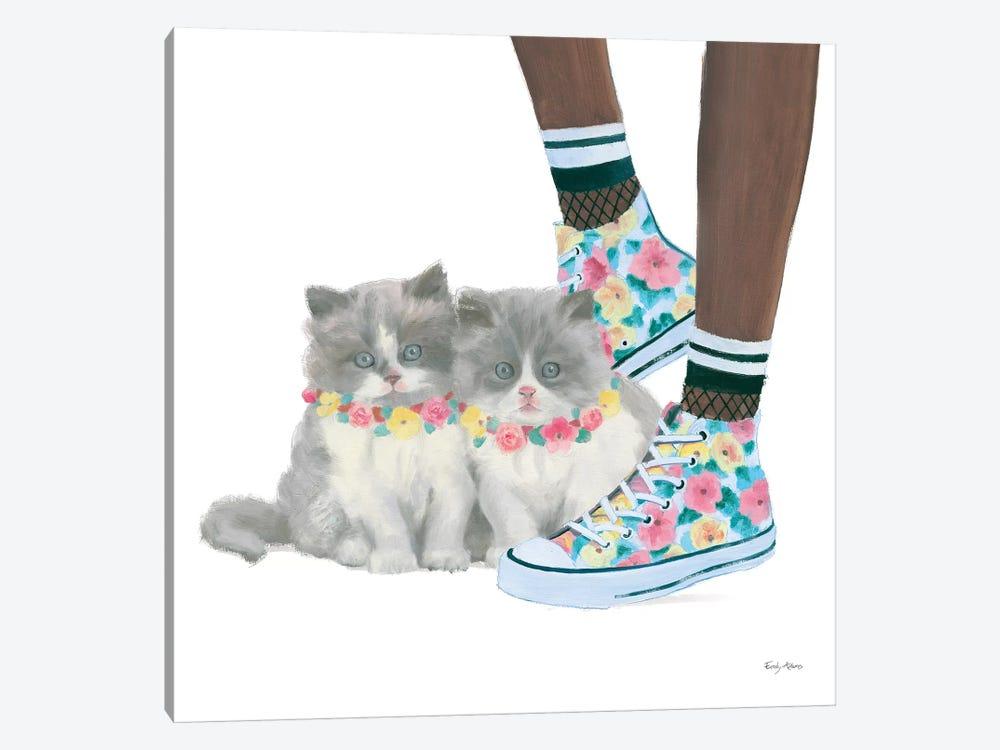 Cutie Kitties VII by Emily Adams 1-piece Canvas Art