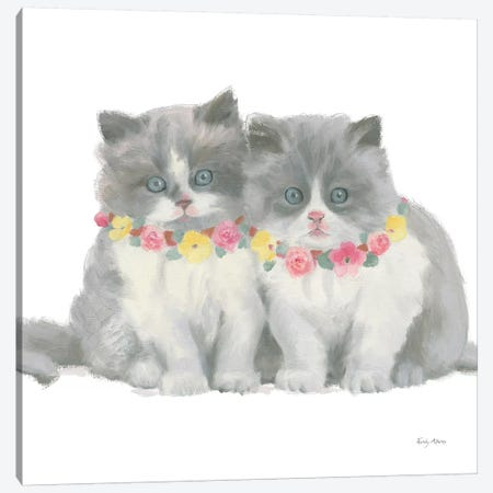 Cutie Kitties VIII Canvas Print #EMA8} by Emily Adams Canvas Print