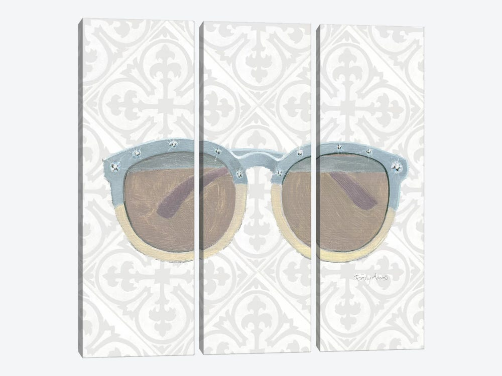 Must Have Fashion I Gray White by Emily Adams 3-piece Canvas Artwork