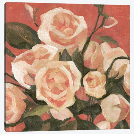 Rose Tangle II 3-Piece Canvas #EMC10} by Emma Caroline Canvas Artwork